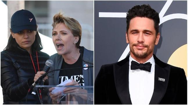 Scarlett Johansson attacked James Franco for supporting the Times Up initiative publicly, but actually privately preying on people who have no power.