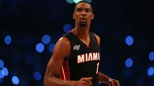 "<a class=""link rapid-noclick-resp"" href=""/nba/players/3707/"" data-ylk=""slk:Chris Bosh"">Chris Bosh</a> originally complained of abdominal pain during All-Star weekend in 2015. (Getty)"