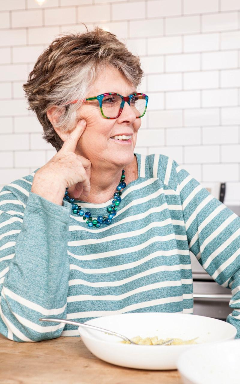 Prue Leith speaking to Saga magazine - courtesy of Saga magazine