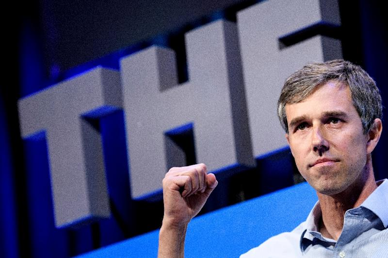 Texan Democratic presidential candidate Beto O'Rourke, 46, received fawning coverage when he entered the race, despite a campaign short on policy specifics (AFP Photo/Brendan Smialowski)