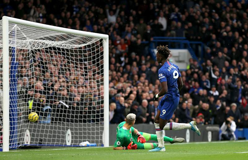 Tammy Abraham puts Chelsea in front (getty)