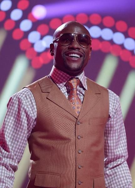 US boxer Floyd Mayweather pictured at the iHeartRadio Music Festival at the MGM Grand Garden Arena in Las Vegas on September 21, 2013