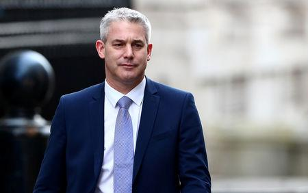 Britain's Secretary of State for Exiting the European Union Stephen Barclay is seen outside Downing Street in London, Britain, February 13, 2019. REUTERS/Hannah McKay