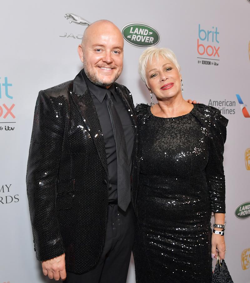 Lincoln Townley and Denise Welch attend the 2019 British Academy Britannia Awards presented by American Airlines and Jaguar Land Rover at The Beverly Hilton Hotel on October 25, 2019 in Beverly Hills, California. (Photo by Emma McIntyre/BAFTA LA/Getty Images for BAFTA LA)