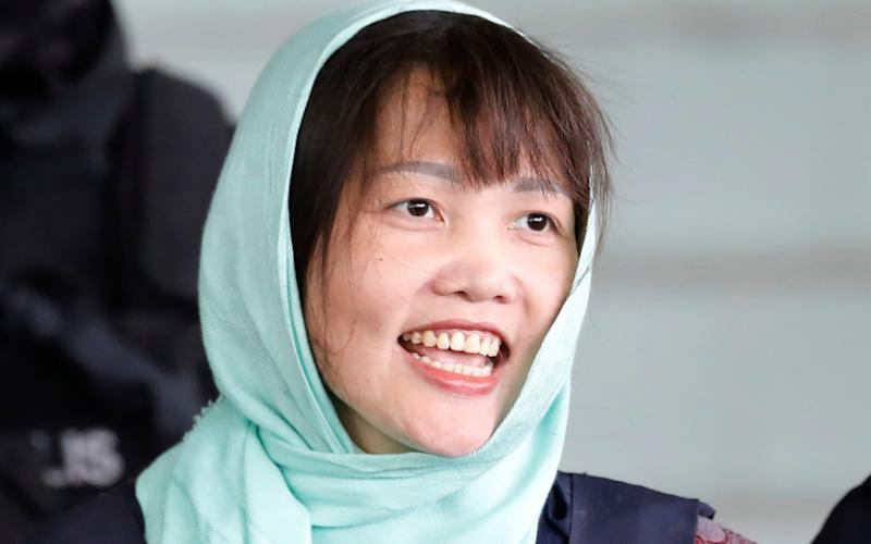 Doan Thi Huong was released on Friday morning from a Malaysian jail - AP