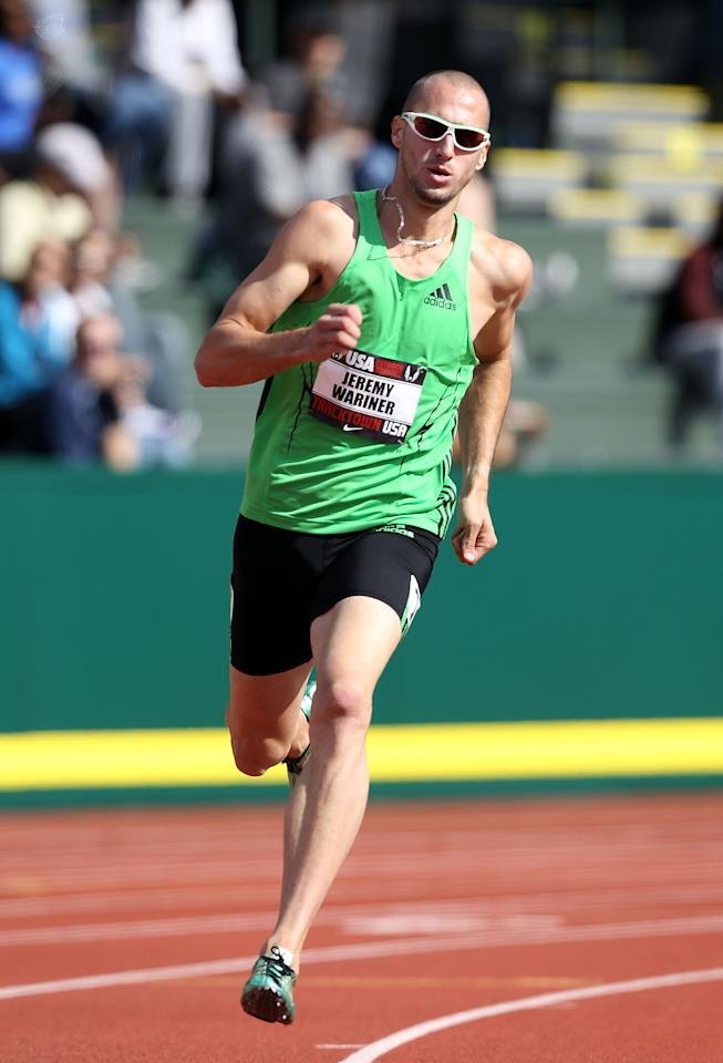 EUGENE, OR - JUNE 23:  Jeremy Wariner competes in the Men's 400 meter dash on day one of the USA Outdoor Track & Field Championships at the Hayward Field on June 23, 2011 in Eugene, Oregon.  (Photo by Christian Petersen/Getty Images)