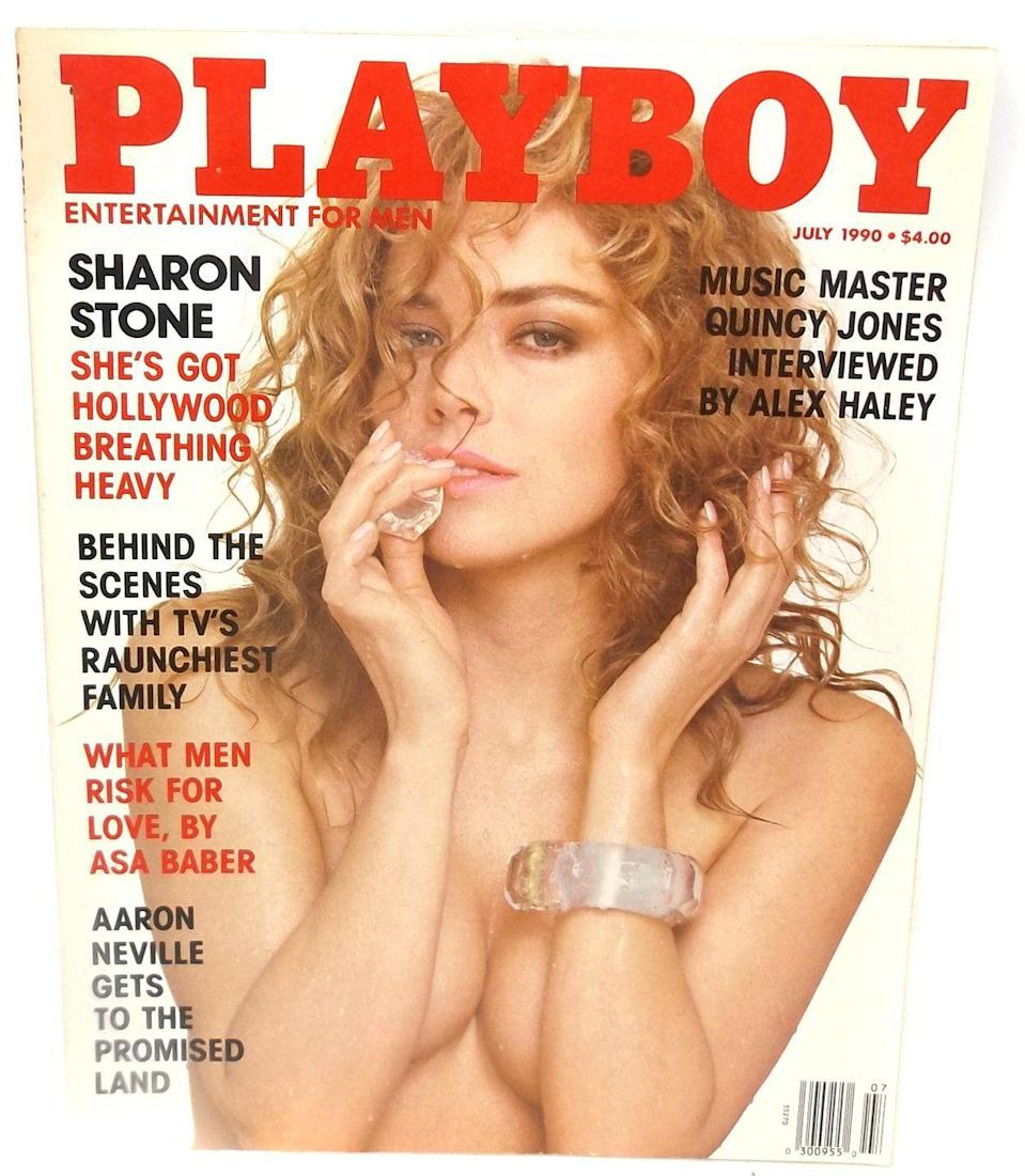 <p><strong>Issue: </strong>July 1990</p><p>Sharon Stone will do down in history as one of the biggest sex symbols in Hollywood history. Her 1990 <em>Playboy</em> cover illustrates why.</p>