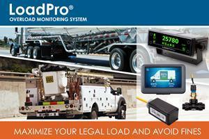 LoadPro® on-vehicle overload monitoring and load optimization system offers truck/van owners and drivers a low-cost solution to maximize the legal loads of their vehicles and avoid overloading fines and related expenses