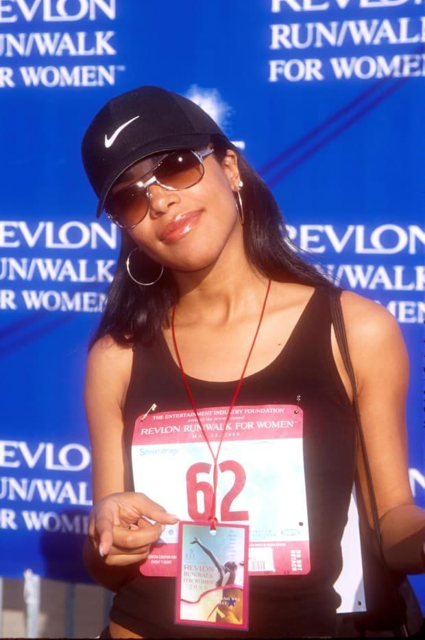 Aaliyah at a Revlon charity event in 2000.