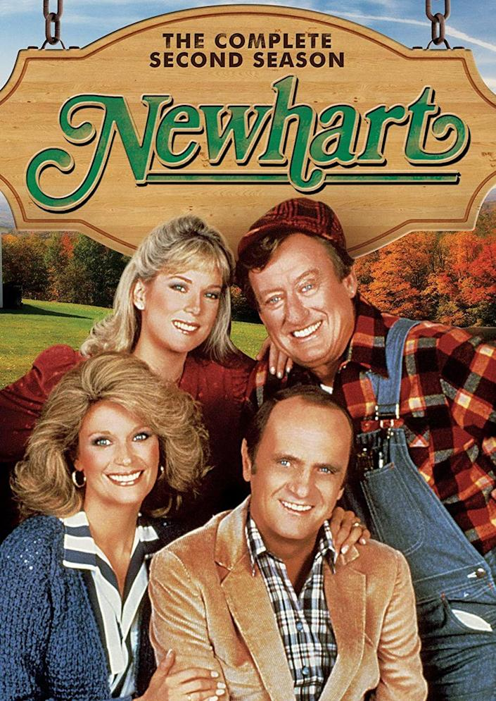 <p><strong><em>Newhart</em> <br></strong><br>This popular '80s sitcom had all the Vermont feels with a cozy small inn run, pretty scenery in the opening credits, and so much flannel.</p>