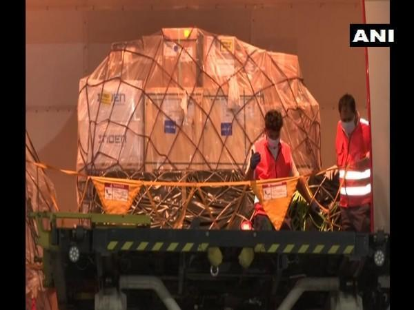 India receiving medical equipment from South Korea (Photo/ANI)