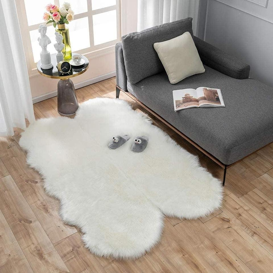 <p><span>Carvapet Soft Fluffy Faux Sheepskin Fur Area Rug</span> ($50, originally $66)</p>