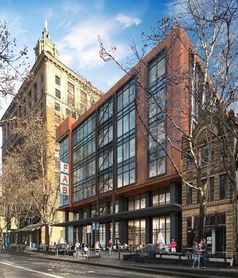 Historic Knox-Goodrich building (right) with rendering of new Fountain Alley Building integration.