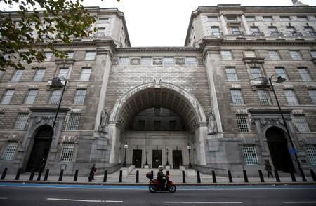FILE PHOTO: Thames House, the headquarters of the British Security Service (MI5) is seen in London