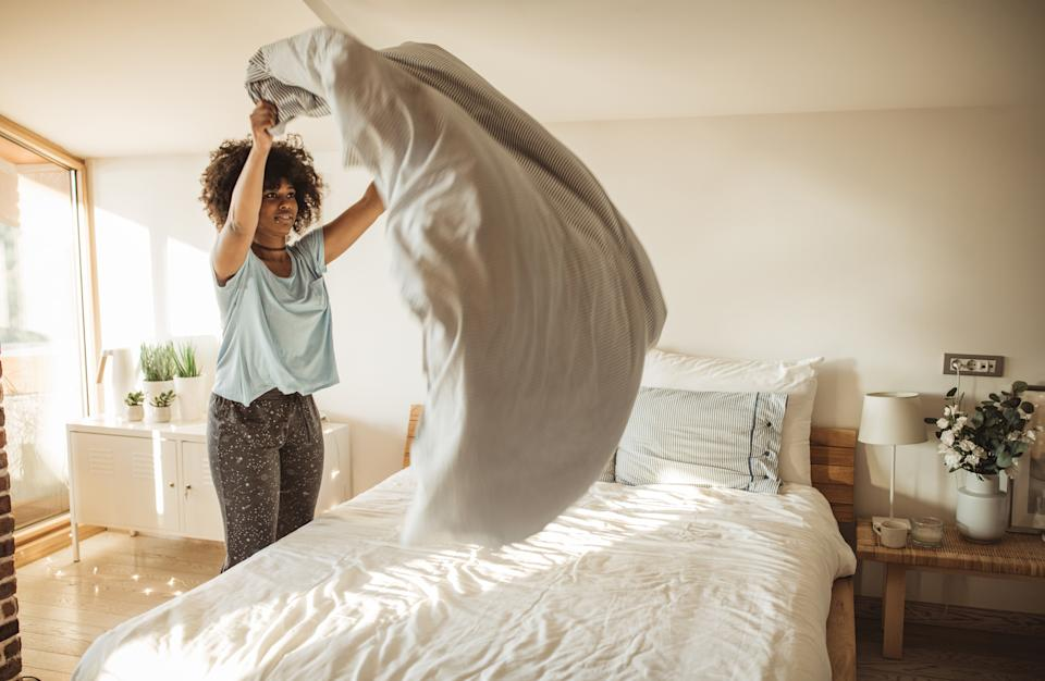 Making your bed can make you more productive. (Getty Images)