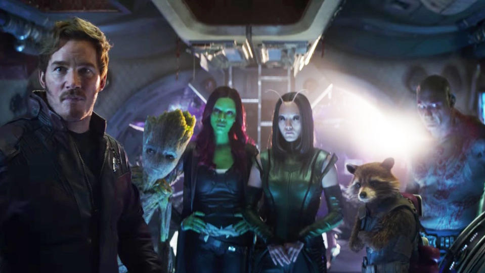 The Guardians of the Galaxy appear in 'Avengers: Infinity War'. (Credit: Disney/Marvel)