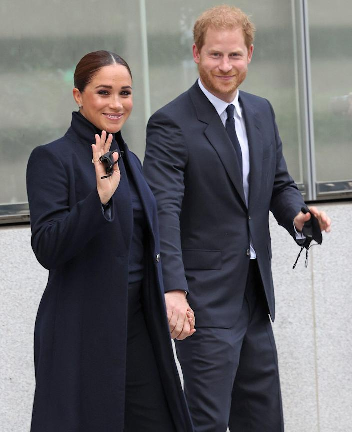 Meghan Markle and Prince Harry The Duke And Duchess Of Sussex Visit One World Observatory