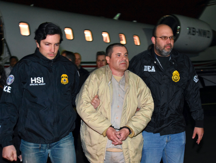 "<em>El Chapo <span class=""s1"">smuggled enormous amounts of narcotics into the US</span> (AP)</em>"