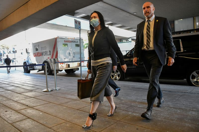 FILE PHOTO: Huawei Technologies Chief Financial Officer Meng Wanzhou returns to court following a lunch break in Vancouver