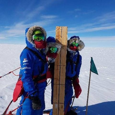 British Army's Ice Maiden team becomes first all-female team to cross Antarctica using muscle power alone
