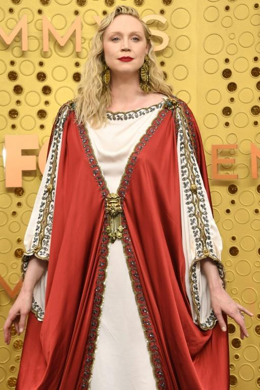 'Game of Thrones' actress Gwendoline Christie looked regal in Gucci on the Emmys red carpet