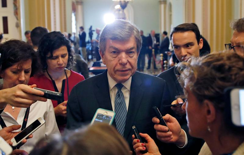 Sen. Roy Blunt (R-Mo.), the author of the Senate's sexual harassment bill, has held firm on keeping a provision in his bill that doesn't require lawmakers to pay out of pocket when they are found to have sexually harassed their staff. Why? (Photo: ASSOCIATED PRESS)