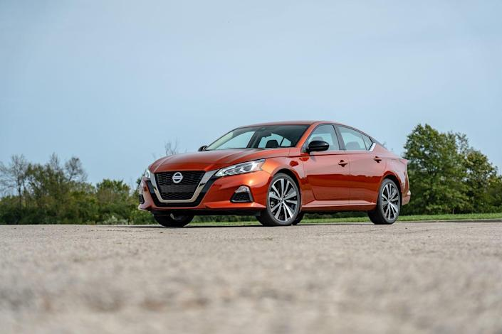 """<p>The Altima sold more units than the Honda Accord in the first quarter, but a weak second quarter saw it drop further down the chart. Nissan's mid-size sedan is now down 39 percent through the first three quarters of the year.</p><p><a class=""""link rapid-noclick-resp"""" href=""""https://www.caranddriver.com/nissan/altima"""" rel=""""nofollow noopener"""" target=""""_blank"""" data-ylk=""""slk:All about the Altima"""">All about the Altima</a></p>"""