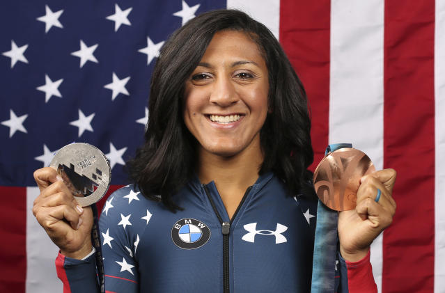 Elana Meyers Taylor is one of three female Olympians who have pledged their brains to CTE research. (AP Photo)