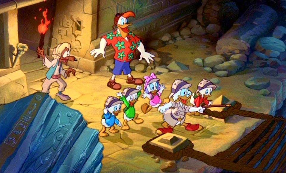 """<p>The bigger box office hit in 1990 was <em>The Rescuers Down Under</em>, an Australian-set follow-up to 1977's <em>The Rescuers</em>. But kids went wild for the big-screen transfer of <em>DuckTales</em>, which wrapped up its TV run that fall. The show's <a href=""""http://deadline.com/2017/06/ducktales-cartoon-reboot-premiere-date-disney-xd-1202113080/"""" rel=""""nofollow noopener"""" target=""""_blank"""" data-ylk=""""slk:returning this August"""" class=""""link rapid-noclick-resp"""">returning this August</a> for a revival on Disney XD — <em>woo-oo</em>! </p>"""
