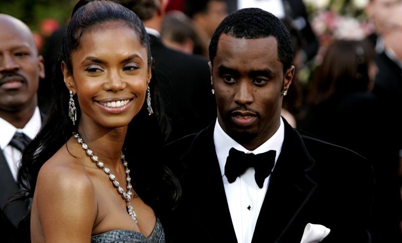 Kim Porter and Sean 'P. Diddy' Combs during The 77th Annual Academy Awards - Arrivals at Kodak Theatre in Los Angeles, California, United States. (Photo by Chris Polk/FilmMagic)