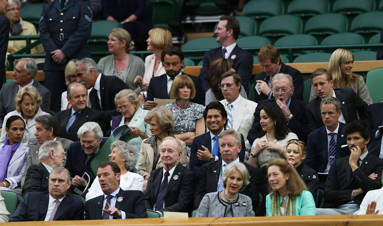 LONDON, ENGLAND - JULY 06:  A general view of the Royal Box attendees on Centre Court on day eleven of the Wimbledon Lawn Tennis Championships at the All England Lawn Tennis and Croquet Club on July 6, 2012 in London, England.  (Photo by Clive Rose/Getty Images)