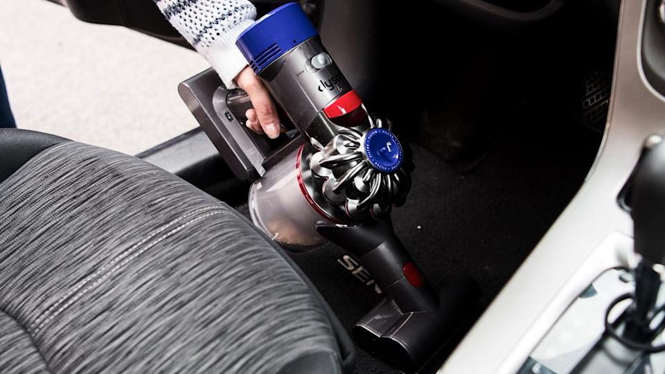 We were impressed by all of the attachments that come with this Dyson vacuum.