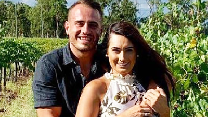 Josh Reynolds and Arabella Del Busso, pictured here in happier times.