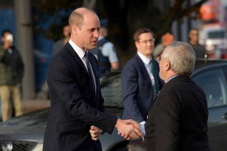 Britain's Prince William arrives at Christchurch Hospital in Christchurch, New Zealand April 26, 2019. REUTERS/Tracey Nearmy