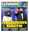 "La Opinión, Published in Los Angeles, Calif. USA (<a href=""https://www.newseum.org/todaysfrontpages/?tfp_display=list&tfp_id=CA_LO"" rel=""nofollow noopener"" target=""_blank"" data-ylk=""slk:Newseum"" class=""link rapid-noclick-resp"">Newseum</a>)"