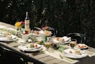 """<p>""""Skip the usual pastels in favor of bold and bright colors that celebrate spring. You can mix and match stems from a flower shop, and even use interesting fruits to create a tropical vibe on your table. We also love the look of colorful and eclectic glassware. Matching is overrated!"""" <em>—<a href=""""https://havenly.com/interior-designers/Lauren.Cox"""" rel=""""nofollow noopener"""" target=""""_blank"""" data-ylk=""""slk:Lauren Cox"""" class=""""link rapid-noclick-resp"""">Lauren Cox</a>, Design Program Manager at Havenly</em><br></p>"""