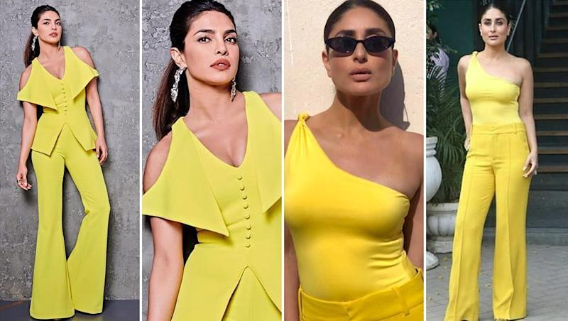 Kareena Kapoor Khan or Priyanka Chopra Jonas - Whose Yellow Outfit Will You Prefer on a Summer Afternoon?
