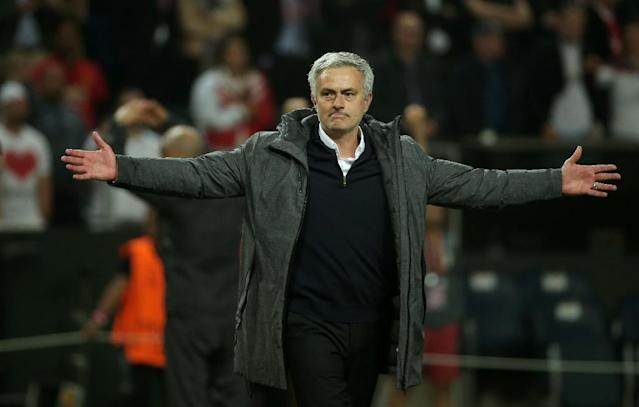 Manchester United manager Jose Mourinho says the team's 2-0 victory over Ajax in the Europa League final was a triumph of pragmatism over poetry (AFP Photo/Soren Andersson)
