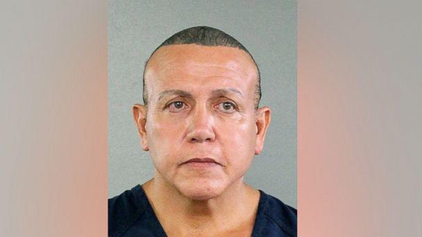 PHOTO: Cesar Sayoc is seen in this undated booking photo, released by the Broward County Sheriff's office and provided by the Associated Press, in Miami. (Broward County Sheriff's Office via AP)