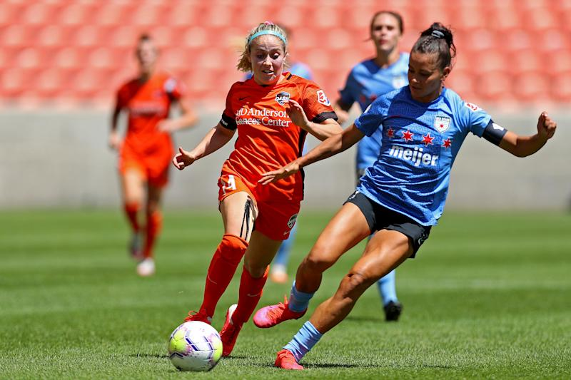 After a successful Challenge Cup tournament, the NWSL is returning with a nine-team, three-pod fall series. (Photo by Maddie Meyer/Getty Images)