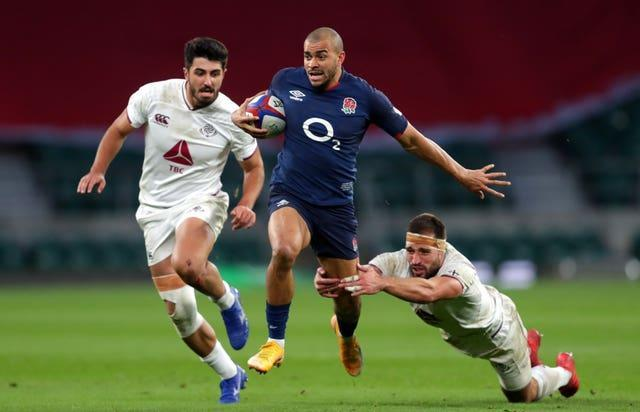 Jonathan Joseph (centre) has been dropped by England