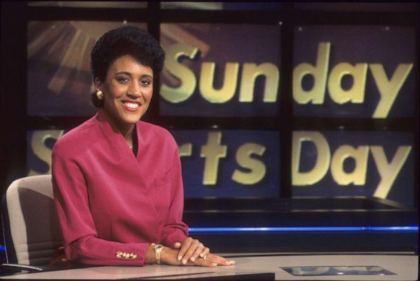 PHOTO: Bristol, CT - March 1, 1999 - ESPN Campus:.On air talent member Robin Roberts is shown posing for the camera on the 'Sunday Sports Day' studio set(Photo by Rick LaBranche / ESPN Images) (Rick LaBranche/ESPN Images)
