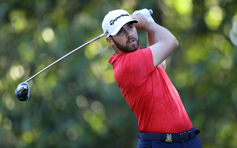 Matthew Wolff of the United States plays his shot from the 14th tee - Getty Images