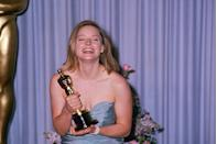 "<p> Jodie Foster took home the Best Actress Oscar for <a href=""https://www.amazon.com/dp/B001NTJ152?ref=sr_1_1_acs_kn_imdb_pa_dp&qid=1547580080&sr=1-1-acs&autoplay=0&tag=syn-yahoo-20&ascsubtag=%5Bartid%7C10055.g.5132%5Bsrc%7Cyahoo-us"" rel=""nofollow noopener"" target=""_blank"" data-ylk=""slk:The Accused"" class=""link rapid-noclick-resp""><em>The Accused</em> </a>and was all smiles backstage posing for reporters. <em><a href=""https://www.amazon.com/dp/B002CNK1MK?ref=sr_1_1_acs_kn_imdb_pa_dp&qid=1547580098&sr=1-1-acs&autoplay=0&tag=syn-yahoo-20&ascsubtag=%5Bartid%7C10055.g.5132%5Bsrc%7Cyahoo-us"" rel=""nofollow noopener"" target=""_blank"" data-ylk=""slk:Rain Man"" class=""link rapid-noclick-resp"">Rain Man</a></em> took home Oscars for Best Picture, Best Director (Barry Levinson), and Best Actor (Dustin Hoffman).</p>"