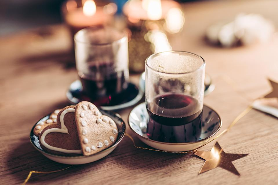 """<p>As well as being good for the skin, mulled wine is anti-ageing for the entire body. The resveratrol (told you you'd be hearing that a lot) is thought to be able to <a href=""""https://bmccellbiol.biomedcentral.com/articles/10.1186/s12860-017-0147-7"""" rel=""""nofollow noopener"""" target=""""_blank"""" data-ylk=""""slk:help rejuvenate cells"""" class=""""link rapid-noclick-resp"""">help rejuvenate cells</a> therefore slowing down the ageing process. <em>[Photo: Getty]</em> </p>"""