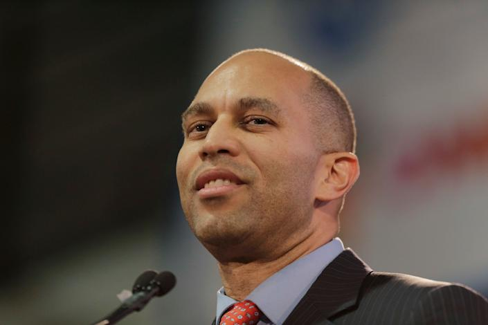 Rep. Hakeem Jeffries (D-N.Y.), chairman of the House Democratic Caucus, delivered a stinging rebuke to President Donald Trump in Harlem on Monday. (Photo: Seth Wenig/ASSOCIATED PRESS)