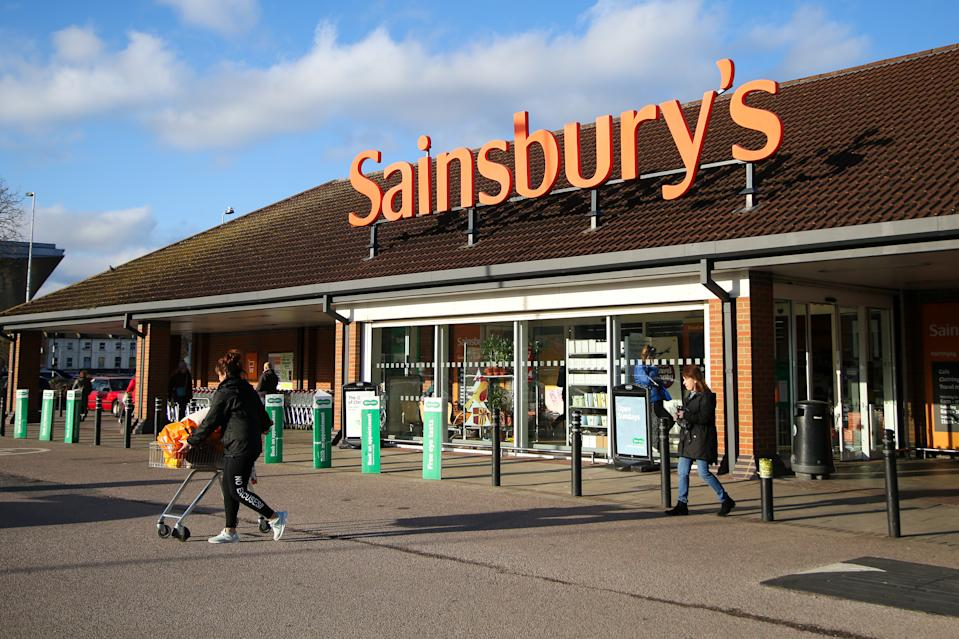 A view of a logo of Sainsbury's outside its branch in north London. On Wednesday 8 Jan 2020, J Sainsbury will publish its trading statement up to the end of the third quarter. (Photo by Dinendra Haria / SOPA Images/Sipa USA)