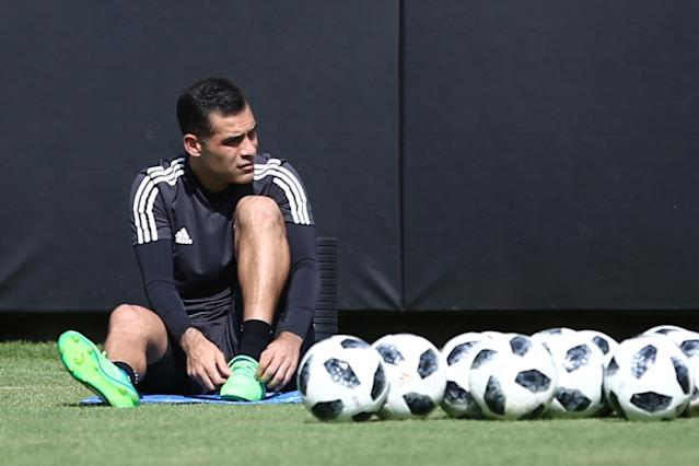 Football Soccer - Mexico's national soccer team training - World Cup 2018 - Mexico City, Mexico - May 17, 2018 - Mexico's player Rafael Marquez attends a training session. REUTERS/Edgard Garrido