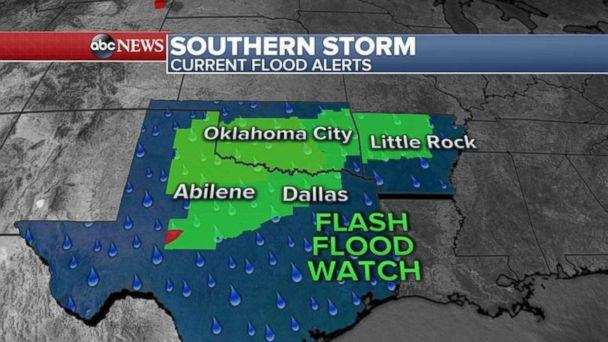 Flood alerts have been issued for much of the South this morning. (ABC News)