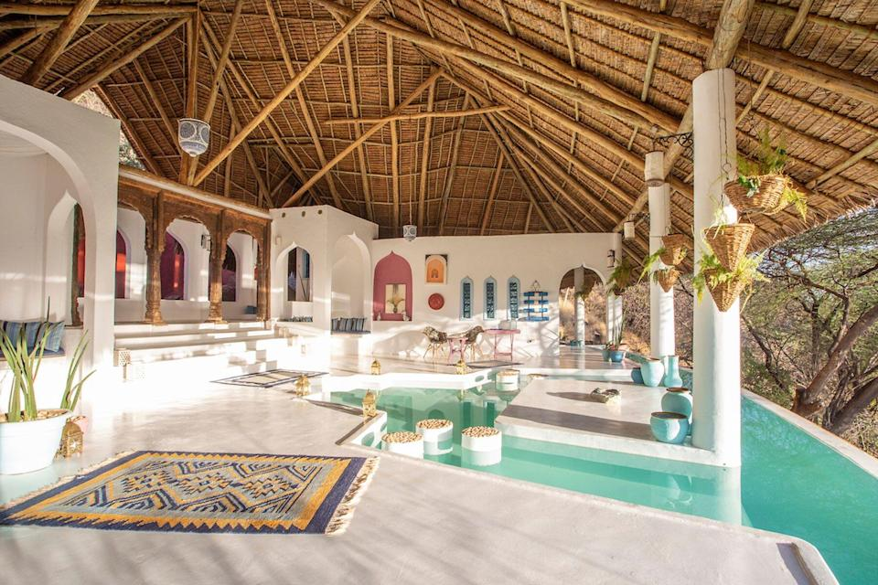 The spa at Sasaab, voted one of the best hotels in the world